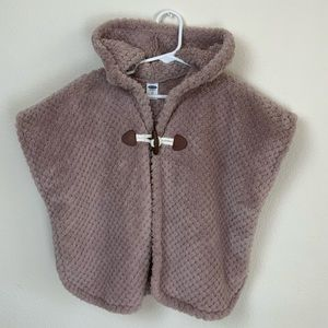 Old Navy Fuzzy Hooded Cape